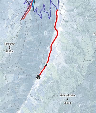 Kaart / Pinnisalm bis Issenangeralm