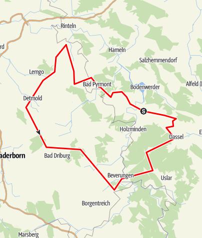 Karte / Hermannsdenkmal