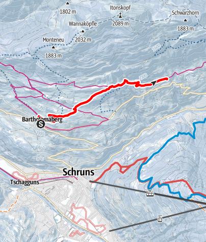 Map / Bartholomäberg - Barthold Rank - Innerberg