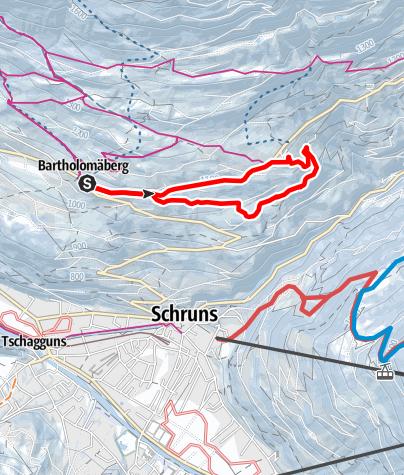 Map / Bartholomäberg - Obdörfle