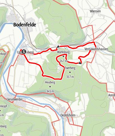 Karte / Eco Pfad Kulturgeschichte Wahlsburg