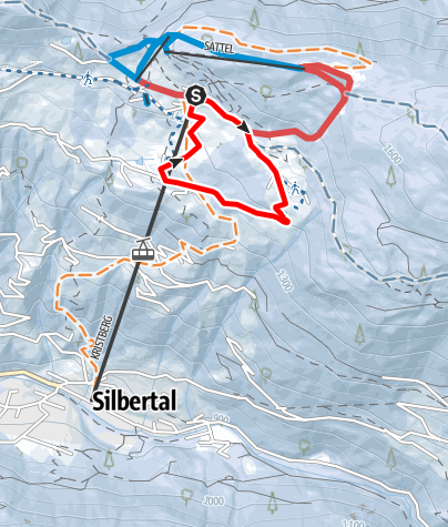 Map / Bergstation Kristbergbahn - Säge - Stelzer
