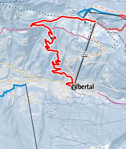 Karte / Von Silbertal auf den Kristberg