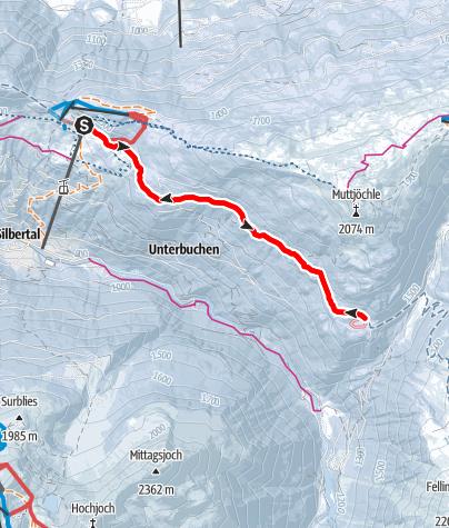 Karte / Von Kristberg der Panoramaloipe entlang zum Wildried und retour