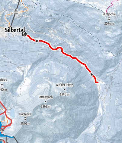 Map / Silbertal - Gasthaus Fellimännle