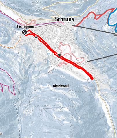 Karte / Illweg Runde Tschagguns