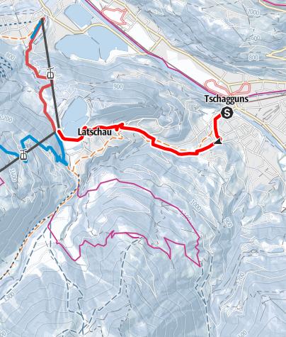 Karte / Von Tschagguns über die Lochmühle nach Latschau