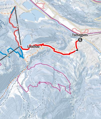 Kaart / Tschagguns - Latschau