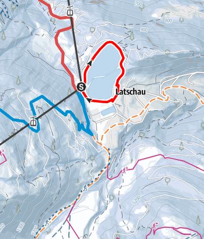 Map / Stausee Latschau Rundweg