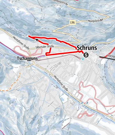 Karte / Schruns über die Litzpromenade zum Kloster Gauenstein