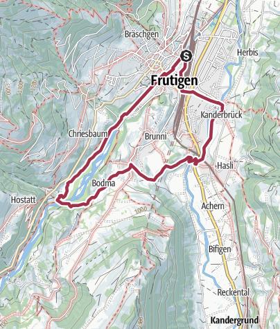 Karte / Rundwanderung Tellenburg Frutigen