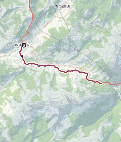 Karte / Der jungen Emme entlang durch den Bumbach