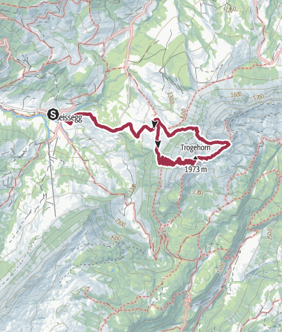 Karte / Anspruchsvoller Genuss: Gipfeltour zum Trogenhorn