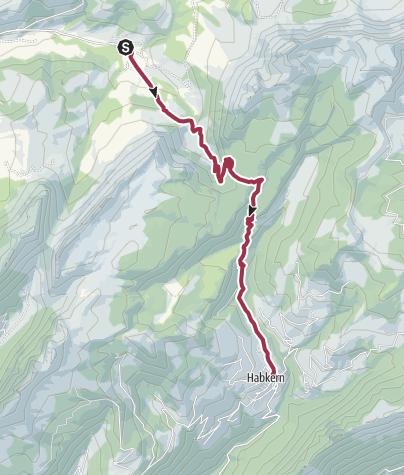 Karte / Grüenenbergpass – aus dem Waldland ins Gebiet der Hochmoore