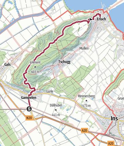 Map / Zur Tüfelsburdi auf dem Jolimont