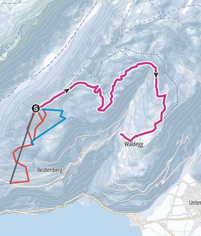 Karte / Winterwanderweg Niederhorn - Waldegg