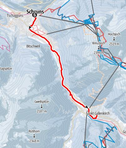 Karte / Von Schruns nach St. Gallenkirch