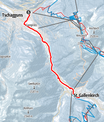 Map / Schruns - St. Gallenkirch