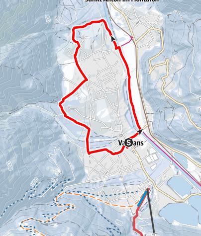 Karte / Vandans über Kapelle Venser Bild zum Scheibenkopf