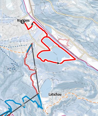 Map / Vandans - Seenrunde