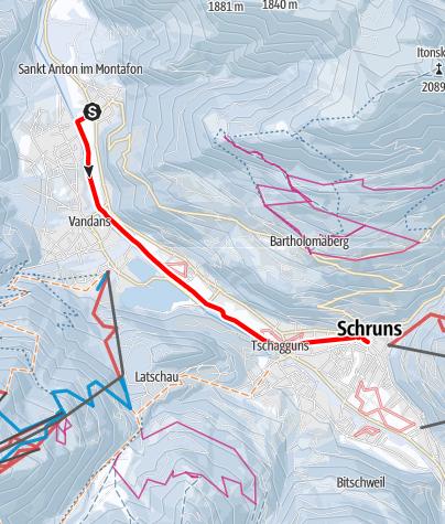 Map / Illwanderweg St. Anton i. M. - Schruns