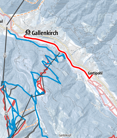 Map / St. Gallenkirch - Gortipohl
