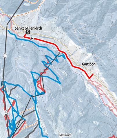 Map / St. Gallenkirch - Gortipohl