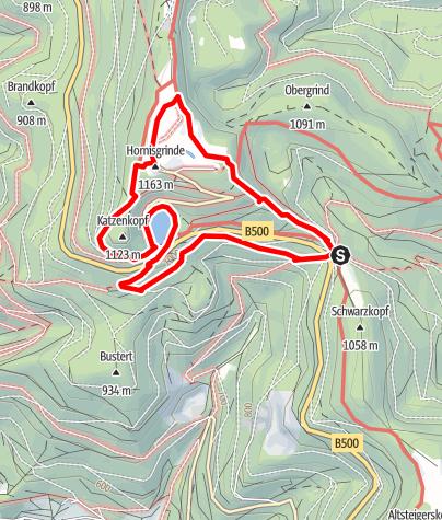 Map / Genießerpfad - Mummelsee-Hornisgrindepfad