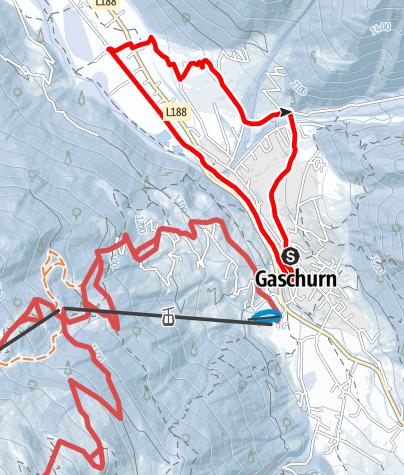 Karte / Gaschurn Runde über Außerbach