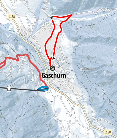 """Karte / Gaschurn """"Gosta"""" Runde"""
