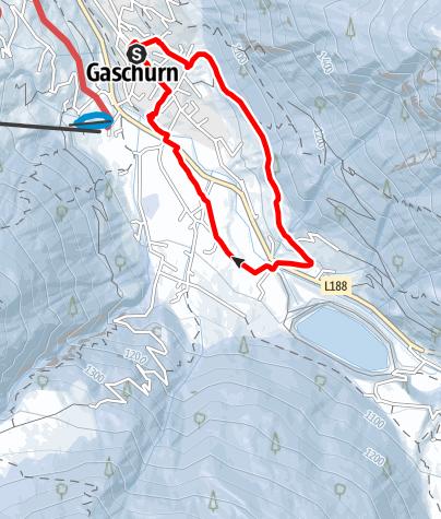 Map / Gaschurn Runde über Kilknerwald und Unter Trantrauas