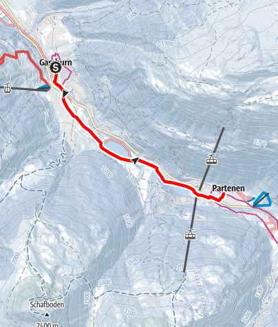 Karte / Von Gaschurn über das Rifabecken nach Partenen