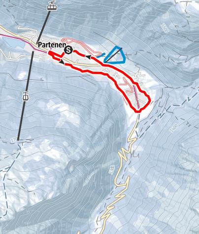 Karte / Von der Talstation Vermuntbahn über Gufelste zur Mautstelle und retour
