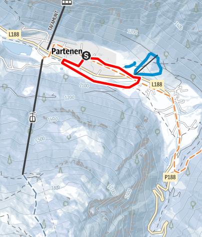 Kaart / Ortsrunde Partenen