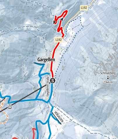 Karte / Von Gargellen zum Röbimaisäß