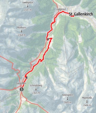 Karte / Suggadinweg nach St. Gallenkirch