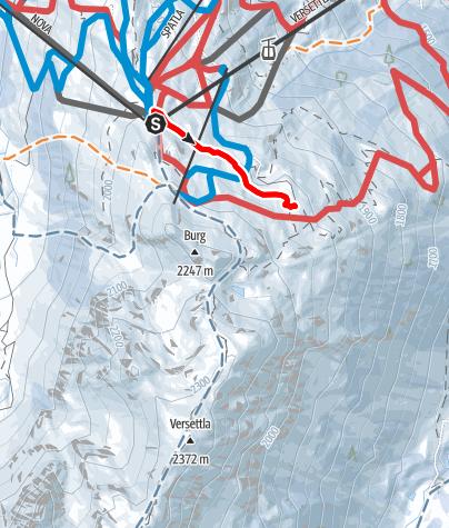 Karte / Wanderweg Vier Barga