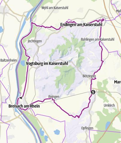 Karte / Kaiserstuhl-Radweg