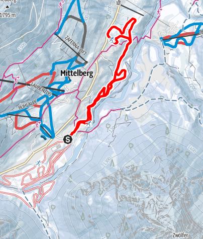 Karte / Steinbock Loipe - Ahorn