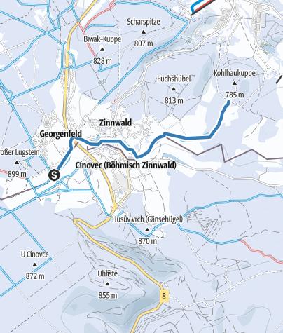 Karte / Skiwanderweg Zinnwald (S5)