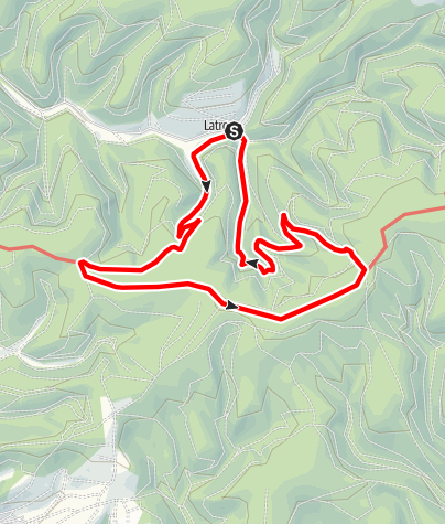 Karte / Latroper Rundtour Rothaarsteig