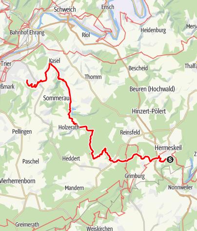 Karte / Saar-Hunsrück-Steig - Hermeskeil nach Trier (Süd-Nord-Abschnitt)