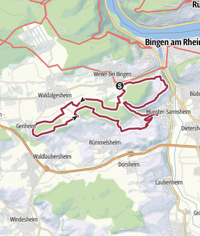 Kaart / Rhein-Nahe-Schleife