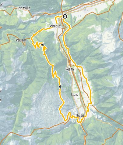Karte / Rhäzünser Alp - Heinzenberg - Domleschg