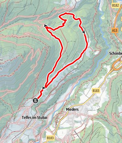 Karte / Gemütlich durch das Lärchenparadies