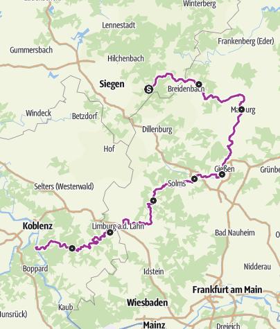 Kaart / Lahntalradweg