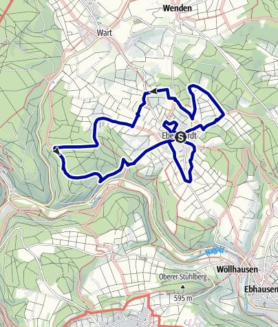 Karte / Historischer Rundwanderweg Ebhausen