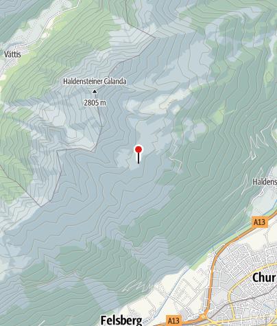 Karte / Calandahütte SAC
