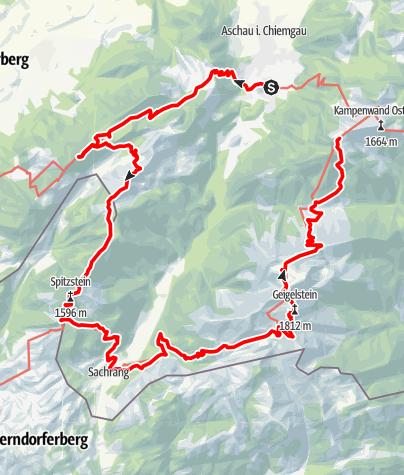 "Karte / Hüttenwanderung ""Chiemgautour"""