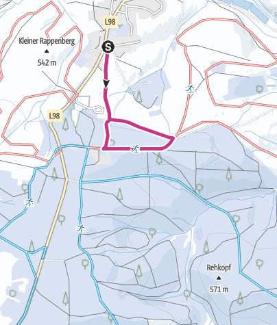 "Karte / Winterwanderweg ""Waldschloßweg"""